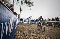 teammates Tom Meeusen (BEL/Telenet-Fidea) &amp; Toon Aerts (BEL/Telenet-Fidea) leading the race together early on<br /> <br /> elite men's race<br /> GP Sven Nys 2017