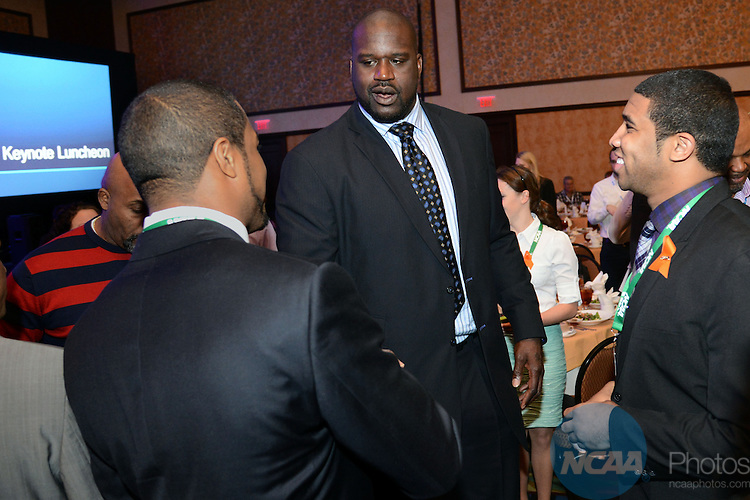 Keynote Luncheon during the 2013 NCAA Convention at the the Gaylord Texan Hotel in Grapevine, TX, Wednesday, January 16, 2013. (Peter Lockley/NCAA Photos).Pictured: Shaquille O'Neal