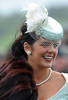 Beautiful fashion at Listowel Races Ladies Day 2011.<br /> Picture by Don MacMonagle<br /> PR photo from HRI