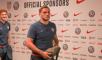 WASHINGTON D.C. - OCTOBER 11: Jordan Morris #11 of the United States walks off the team bus prior to their Nations League game versus Cuba at Audi Field, on October 11, 2019 in Washington D.C.