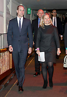 18 April 2017 - Prince William, Duke of Cambridge with Charlotte Moore, BBC Director of Content as he attends a screening of the BBC documentary 'Mind over Marathon' at BBC Radio Theatre in London.  The screening also launches the BBC season on mental health. Photo Credit: ALPR/AdMedia