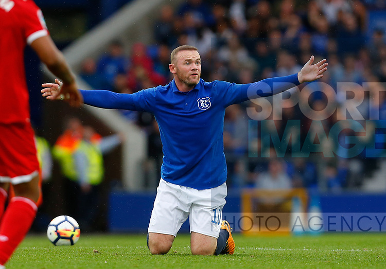 Everton's Wayne Rooney during the pre season friendly match at Goodison Park Stadium, Liverpool. Picture date 6th August 2017. Picture credit should read: Paul Thomas/Sportimage
