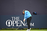 Tommy Fleetwood (ENG) on the 1st tee during final round of the 148th Open Championship, Royal Portrush golf club, Portrush, Antrim, Northern Ireland. 21/07/2019.<br /> Picture Fran Caffrey / Golffile.ie<br /> <br /> All photo usage must carry mandatory copyright credit (© Golffile | Fran Caffrey)