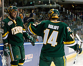 Viktor Stalberg (Vermont - 18), Brian Roloff (Vermont - 14) - The University of Vermont Catamounts defeated the Yale University Bulldogs 4-1 in their NCAA East Regional Semi-Final match on Friday, March 27, 2009, at the Bridgeport Arena at Harbor Yard in Bridgeport, Connecticut.