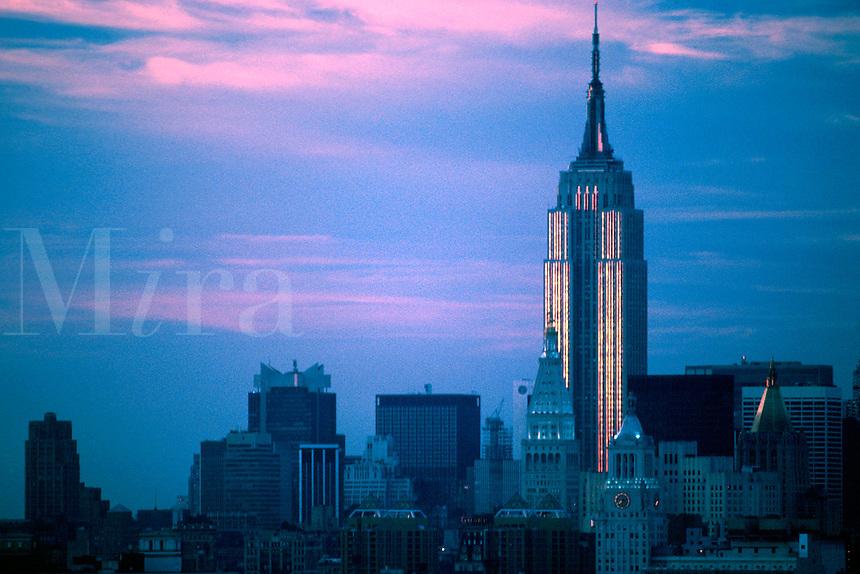 """JP0033 """"Empire State Building (Orange Stripes) #1 - New York NY"""