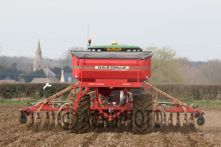 Direct drilling Spring Barley with a  Dale drill in South Lincolnshire <br /> Picture Tim Scrivener 07850 303986<br /> &hellip;.covering agriculture in the UK&hellip;.