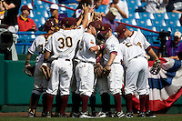 Arizona State prepares for Game 4 of the NCAA Division One Men's College World Series on Monday June 21st, 2010 at Johnny Rosenblatt Stadium in Omaha, Nebraska.  (Photo by Andrew Woolley / Four Seam Images)