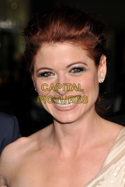 """DEBRA MESSING.""""Nothing Like the Holidays"""" Los Angeles Premiere at Grauman's Chinese Theatre, Hollywood, California, USA..December 3rd, 2008.headshot portrait gold one shoulder diamond  stud earring.CAP/ADM/BP.©Byron Purvis/AdMedia/Capital Pictures."""