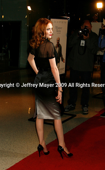 """WEST HOLLYWOOD, CA. - June 08: Actress Evan Rachel Wood arrives at the Los Angeles premiere of """"Whatever Works"""" at the Pacific Design Center on June 8, 2009 in West Hollywood, California."""
