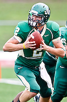 October 2, 2010:   Jacksonville Dolphins quarterback Josh McGregor (2) during Pioneer Football League action between the San Diego Toreros and Jacksonville University Dolphins at D. B. Milne Field in Jacksonville, Florida.  Jacksonville defeated San Diego 35-28.