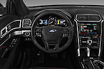 Car pictures of steering wheel view of a 2017 Ford Explorer Sport 5 Door Suv Steering Wheel
