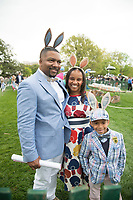 Washington DC, April 17, 2017, USA: A family from Altanta Ga, enjoys being at the annual Easter Egg event at the White House. President Donald J Trump and First Lady Melania Trump welcome visitors to the South Lawn of the White House for the 139th Annual Easter Egg roll and event in Washington DC. <br /> CAP/MPI/LYN<br /> &copy;LYN/MPI/Capital Pictures