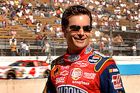 Nov 12, 2005; Phoenix, Ariz, USA;  Nascar Nextel Cup driver Jeff Gordon (24) during qualifying for the Checker Auto Parts 500 at Phoenix International Raceway. Mandatory Credit: Photo By Mark J. Rebilas