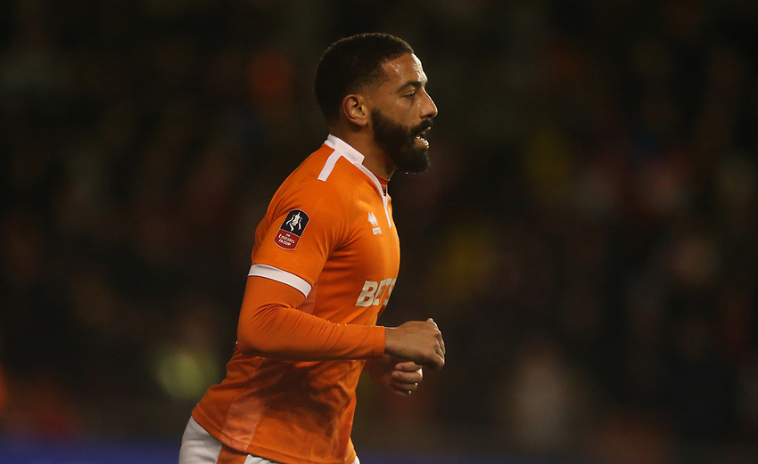 Blackpool's Liam Feeney<br /> <br /> Photographer Stephen White/CameraSport<br /> <br /> Emirates FA Cup Third Round - Blackpool v Arsenal - Saturday 5th January 2019 - Bloomfield Road - Blackpool<br />  <br /> World Copyright © 2019 CameraSport. All rights reserved. 43 Linden Ave. Countesthorpe. Leicester. England. LE8 5PG - Tel: +44 (0) 116 277 4147 - admin@camerasport.com - www.camerasport.com