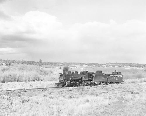 K-37 #495 on a caboose hop.<br /> D&amp;RGW