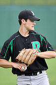 June 13th 2008:  Pitcher Matt Kinker of the Dayton Dragons, Class-A affiliate of the Cincinnati Reds, during a game at Stanley Coveleski Regional Stadium in South Bend, IN.  Photo by:  Mike Janes/Four Seam Images