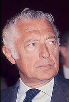 - the tycoon Giovanni Agnelli (FIAT), Milan, March 1984....- l'industriale Gianni Agnelli  (Milano, marzo 1984)
