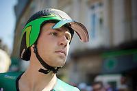 David Veilleux (FRA) before the ITT with original tilt-shades<br /> <br /> Tour de France 2013<br /> stage 11: iTT Avranches - Mont Saint-Michel <br /> 33km