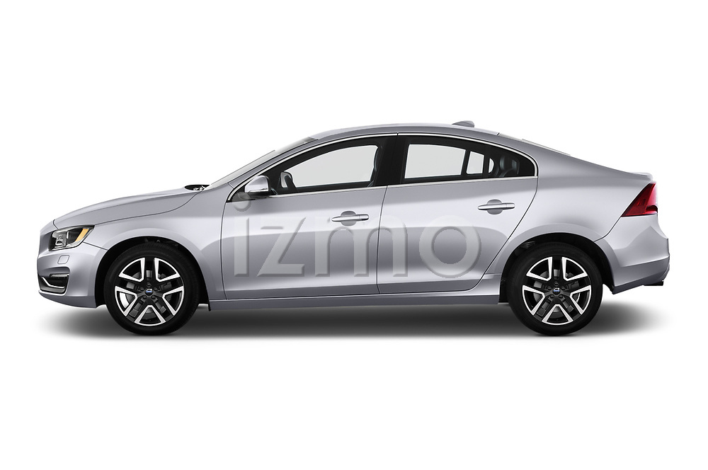 Car Driver side profile view of a 2017 Volvo S60 T5 4 Door Sedan Side View