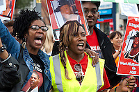 United Friends and Family March in support of the family of Kingsley Burrell 18-8-12