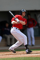 Infielder Drew Sutton #40 of the Pawtucket Red Sox during a game versus the Syracuse Chiefs on April 21, 2011 at McCoy Stadium in Pawtucket, Rhode Island. Photo by Ken Babbitt /Four Seam Images
