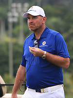 Thomas Bjorn (Captain Team Europe) on the 15th green during the Singles Matches of the Eurasia Cup at Glenmarie Golf and Country Club on the Sunday 14th January 2018.<br /> Picture:  Thos Caffrey / www.golffile.ie