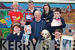 KINDNESS: Pupils from Knocknagoshel National School who donated finance from their annual Spellathon  to Liam Lynch of  the Irish Guide Dogs Association..Front L/r. Jackie Kay Walsh, Amy Walsh, Liam Lynch and his guide dog Yale, Jamie Browne, Gearoid Browne..Back L/r. Aaron Duncan, Richie Cotter and Eda Mangan.   Copyright Kerry's Eye 2008