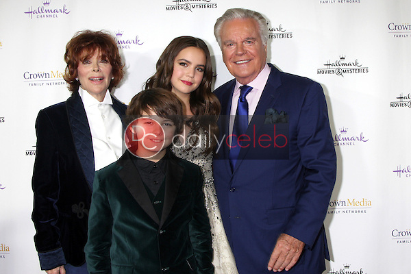 Jill St. John, Max Charles, Bailee Madison, Robert Wagner<br /> at the Hallmark Channel's &quot;Northpole&quot; Screening Reception, La Piazza Restaurant, Los Angeles, CA 11-04-14<br /> David Edwards/DailyCeleb.com 818-915-4440