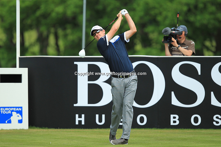 Justin Rose in action during the final round of the 2012 BMW PGA Championships played over the West Course, Wentworth, Surrey, England from 24th to 27th May 2012: Picture Stuart Adams www.golftourimages.com:  27th May 2012