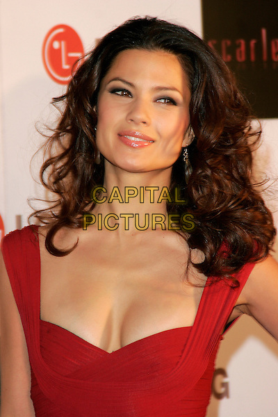 "NATASSIA MALTHE.""Scarlet"" - TV series launch, No. 1 Marylebone, Marylebone Road, London, England..April 30th, 2008.headshot portrait red cleavage .CAP/AH.©Adam Houghton/Capital Pictures."