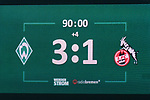 12.03.2018, Weserstadion, Bremen, GER, 1.FBL, SV Werder Bremen vs 1. FC Koeln<br /> <br /> im Bild<br /> Anzeigetafel / Endstand, Feature, <br /> <br /> Foto &copy; nordphoto / Ewert