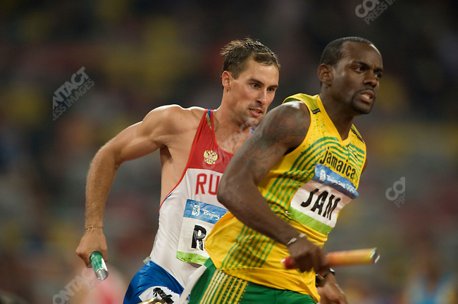 Men's 4x400m Relay final, Russia - bronze, National Stadium, Summer Olympics, Beijing, China, August 23, 2008