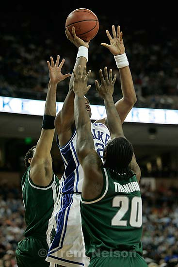 Duke vs. Michigan State college basketball at the University of Texas's Erwin Center, NCAA Sweet Sixteen. Michigan State wins. 3.25.2005<br />