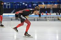 SCHAATSEN: HEERENVEEN: IJsstadion Thialf, 06-12-2016, ISU World Cup-training, Jorrit Bergsma (USA), ©foto Martin de Jong