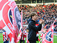 Sheffield United's Kieran Dowell is introduced to the crowd after joining on load from Everton<br /> <br /> Photographer Chris Vaughan/CameraSport<br /> <br /> The EFL Sky Bet Championship - Sheffield United v Blackburn Rovers - Saturday 29th December 2018 - Bramall Lane - Sheffield<br /> <br /> World Copyright © 2018 CameraSport. All rights reserved. 43 Linden Ave. Countesthorpe. Leicester. England. LE8 5PG - Tel: +44 (0) 116 277 4147 - admin@camerasport.com - www.camerasport.com