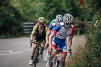 David Gaudu (FRA/Groupama - FDJ) leading Thibaut Pinot (FRA/Groupama-FDJ) to the finish (before crashing with also-favourite Miguel Angel Lopez...)<br /> <br /> 99th Milano - Torino 2018 (ITA)<br /> from Magenta to Superga: 200km