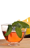Stock photos of a tea service Stock photo of tea and mint