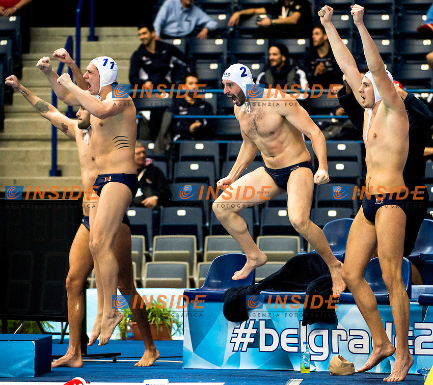 Team GEORGIA<br /> LEN European Water Polo Championships 2016<br /> Men GEO - NED Georgia (White) Vs Netherlands (Blue)<br /> Kombank Arena, Belgrade, Serbia <br /> Day10  19-01-2016<br /> Photo G. Scala/Insidefoto/Deepbluemedia