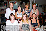 Staff from Leahy's Chemist, Oakpark, Tralee dined in the Stone House, Tralee last Friday night to wish Jessica Belmour (seated centre) the best in the future as she is moving to Co Galway, seated is Jean O'Hara, Jessica Belmour and Eileen Greaney. Back l-r: Claire Kelly, Maura Reidy, Phil Garritty with Nuala Finn.