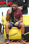 Nick Kyrgios, Australia, during Madrid Open Tennis 2016 match.May, 5, 2016.(ALTERPHOTOS/Acero)