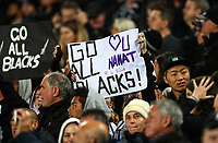 Fans in the grandstand during the Bledisloe Cup and Rugby Championship rugby match between the New Zealand All Blacks and Australia Wallabies at Eden Park in Auckland, New Zealand on Saturday, 25 August 2018. Photo: Simon Watts / lintottphoto.co.nz