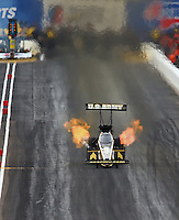 Feb 22, 2014; Chandler, AZ, USA; NHRA top fuel dragster driver Tony Schumacher during qualifying for the Carquest Auto Parts Nationals at Wild Horse Motorsports Park. Mandatory Credit: Mark J. Rebilas-USA TODAY Sports