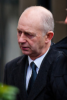 Monday 16 December 2013<br /> Pictured: Malcolm Fyfield ( left ) arrives at Swansea Crown court<br /> Re: Gleision Mine Directors at Swansea Crown Court. A mine manager has pleaded not guilty to manslaughter over the deaths of four miners at a Swansea Valley colliery. Malcolm Fyfield, 58, was manager of the Gleision drift mine near Cilybebyll when it flooded in September 2011