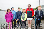 Braving the elements at the Sive Regatta on Sunday from Valentia & The Glen were l-r; Dervlah Healy, Fionán Healy, Kevin O'Connor, Rian O'Shea, Emma O'Connor & Ronan O'Dowd.