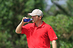 Michael Hoey (NIR) hydrates on the 16th tee during Day 1 Thursday of the Open de Andalucia de Golf at Parador Golf Club Malaga 24th March 2011. (Photo Eoin Clarke/Golffile 2011)