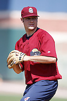 June 24, 2009:  Pitcher Jeremy Johnson of the Mahoning Valley Scrappers during a game at Eastwood Field in Niles, OH.  The Scrappers are the NY-Penn League Short-Season Single-A affiliate of the Cleveland Indians.  Photo by:  Mike Janes/Four Seam Images