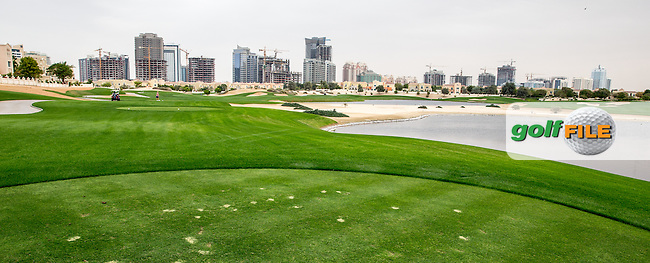 15th tee at The Els Club , Dubai, United Arab Emirates.  28/01/2016. Picture: Golffile | David Lloyd<br /> <br /> All photos usage must carry mandatory copyright credit (&copy; Golffile | David Lloyd)