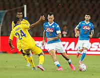 Marek Hamsik   durante l'incontro di calcio di Serie A   Napoli -Sampdoria allo  Stadio San Paolo  di Napoli , 30 Agosto 2015