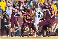 Landover, MD - SEPT 3, 2017: Virginia Tech Hokies running back Deshawn McClease (33) scores late in the 3rd quarter to take the lead during game between West Virginia and Virginia Tech at FedEx Field in Landover, MD. (Photo by Phil Peters/Media Images International)