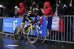 Sylvain Chavanel (FRA) Direct Energie in action during Stage 1, a 14km individual time trial around Dusseldorf, of the 104th edition of the Tour de France 2017, Dusseldorf, Germany. 1st July 2017.<br /> Picture: Eoin Clarke | Cyclefile<br /> <br /> <br /> All photos usage must carry mandatory copyright credit (&copy; Cyclefile | Eoin Clarke)